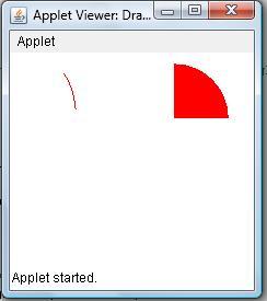 Draw Arc in Applet Window Example | Java Examples - Java Program ...