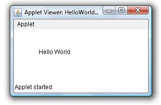 HelloWorld Applet