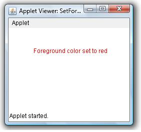 Set Foreground Color Of an Applet Window Example | Java Examples ...